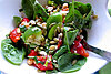 Meatless Monday: Rustic spinach salad with roasted red pepper