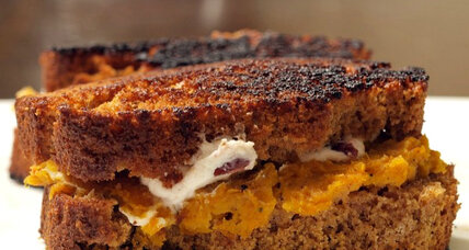 Thanksgiving grilled cheese sandwich