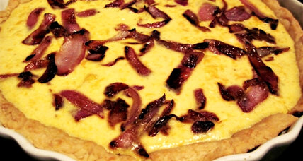 Butternut squash tart with carmelized onions