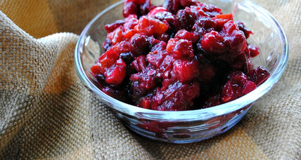 Spiced cranberry chutney with apricots and pecans