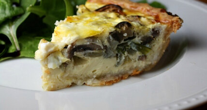 Meatless Monday: Roasted vegetable and goat cheese quiche