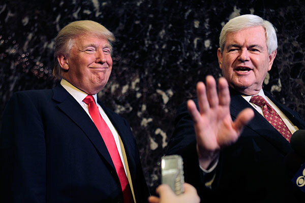 Image result for newt and trump in florida