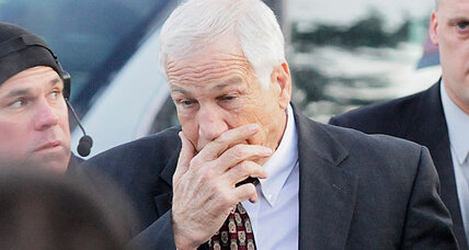 Why did Jerry Sandusky waive his right to hearing on sex abuse charges?