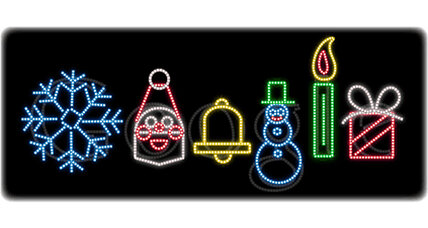 Happy Holidays: Six symbols of Christmas Google-style