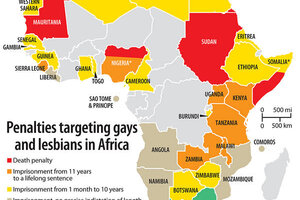 Nations with death penalty for homosexuality
