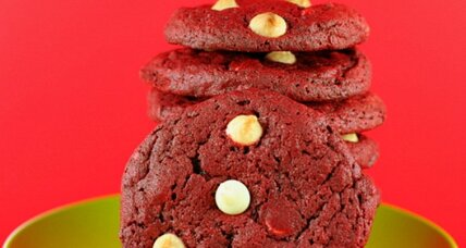 Red velvet polka dot cookies