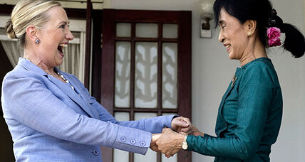 Aung San Suu Kyi and Hillary Clinton establish strong bond (video)