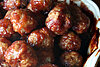 Cranberry chipotle appetizer meatballs