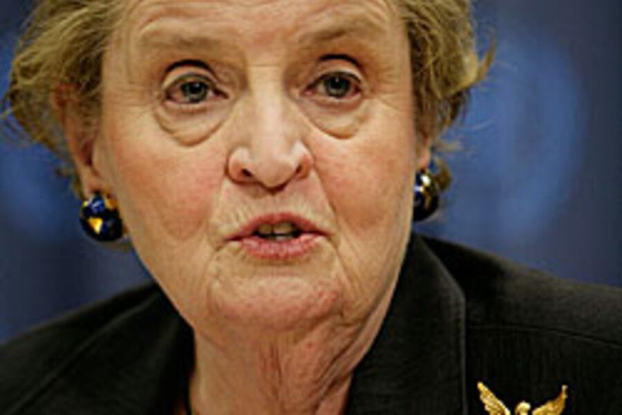 lowering religious conflict in the thesis of madeline albright Conflicts problems and perspectives rahmatullah khan i introduction four decades ago, some of us on the threshold of a career in interna- tional law were excited, among other preyed on ethnic and religious differences, they are often sustained secretary of state, madeleine albright, had issued a refutation to that.