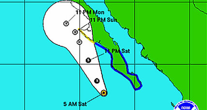 Tropical storm Ivo warnings for Baja California