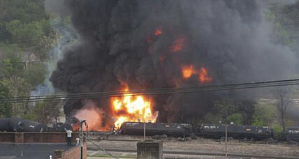 Oil train fire: Tankers derail, catch fire in Lynchburg, Va.
