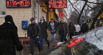 Oil prices, energy sanctions, and the Russian ruble crisis