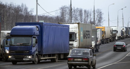 Russian truckers blockade Moscow. Trouble for Putin?